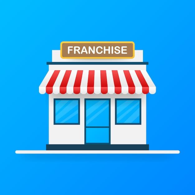 Koncepcja Biznesowa Franczyzy, System Marketingu Franczyzowego. Premium Wektorów