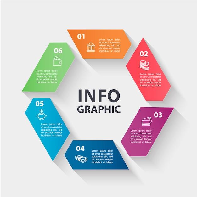 Koncepcja Biznesowa Z 6 Opcjami Premium Wektorów