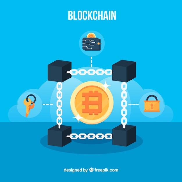 Koncepcja Blockchain Premium Wektorów