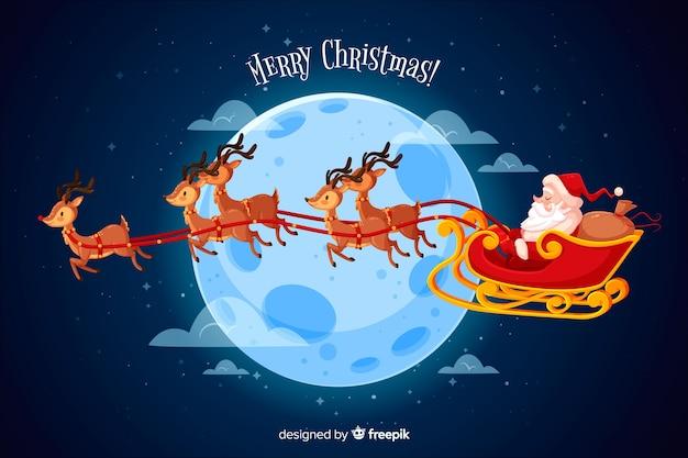Koncepcja Bożego Narodzenia W Płaskiej Konstrukcji Darmowych Wektorów