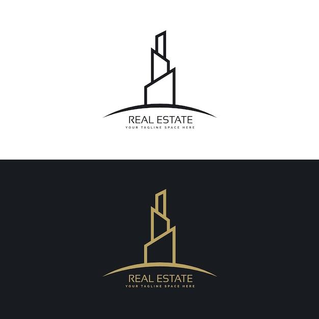 koncepcja budowy logo firmy budowlanej wektor darmowe