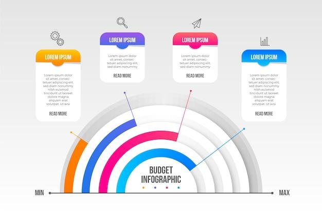 Koncepcja Budżetu Plansza Darmowych Wektorów