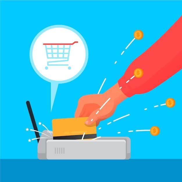 Koncepcja Cashback Kartą Kredytową Darmowych Wektorów