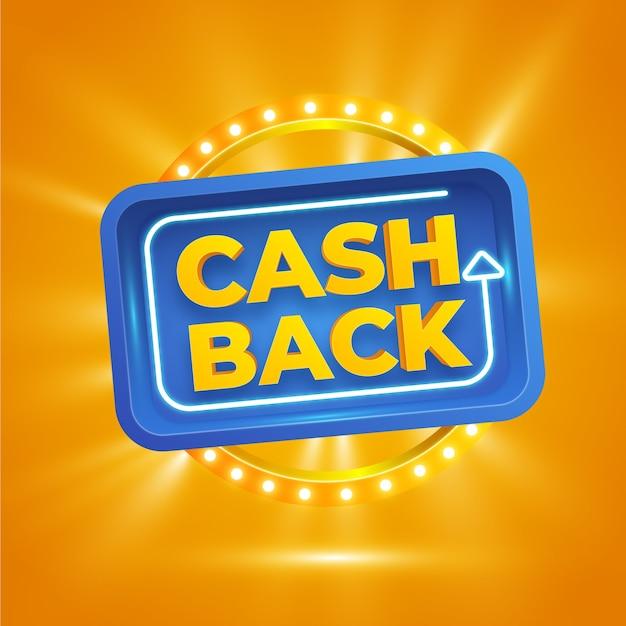 Koncepcja Cashback Ze Znakiem światła Darmowych Wektorów