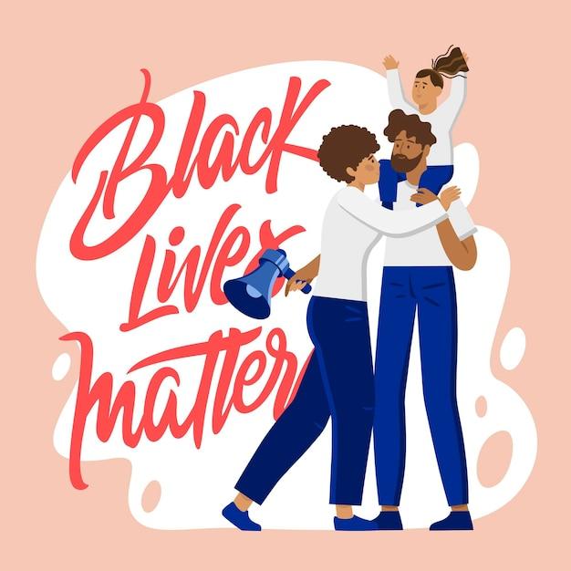 Koncepcja Czarnego życia Ma Znaczenie Darmowych Wektorów