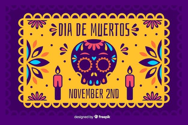 Koncepcja día de muertos z płaskim tle Darmowych Wektorów
