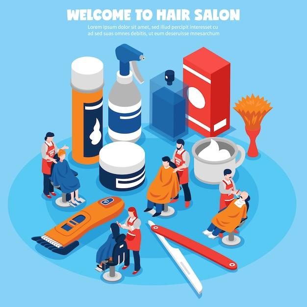 Koncepcja dla zakładów fryzjerskich Darmowych Wektorów