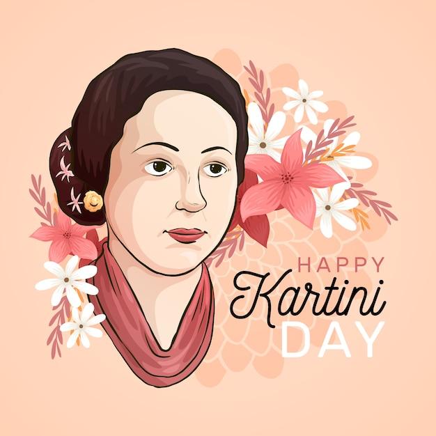 Koncepcja Dnia Kartini Premium Wektorów