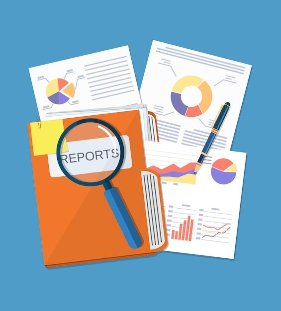 Koncepcja Dokumentu Biznesowego Premium Wektorów