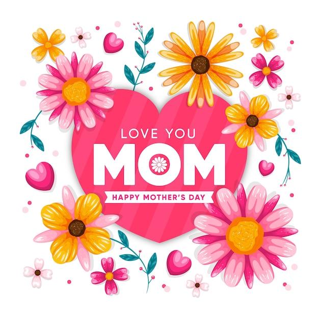Koncepcja Dzień Kwiatowy Matki Darmowych Wektorów
