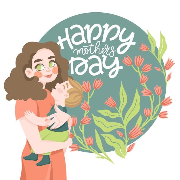 Koncepcja Dzień Matki Ilustracja Darmowych Wektorów