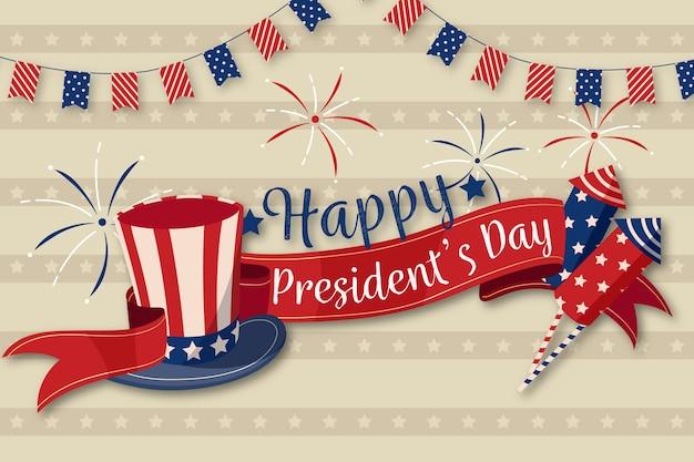 Koncepcja Dzień Prezydentów Vintage Darmowych Wektorów
