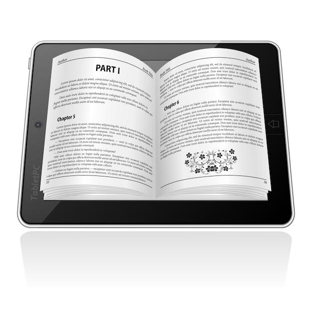 Koncepcja E-booka Premium Wektorów