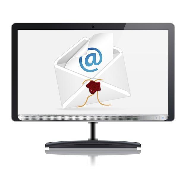 Koncepcja E-mail Premium Wektorów
