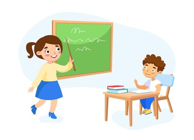 Koncepcja Edukacji Na Białym Tle Premium Wektorów
