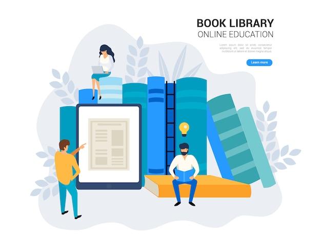 Koncepcja edukacji online. Premium Wektorów