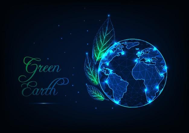 Koncepcja Ekologii Zielonej Ziemi Premium Wektorów