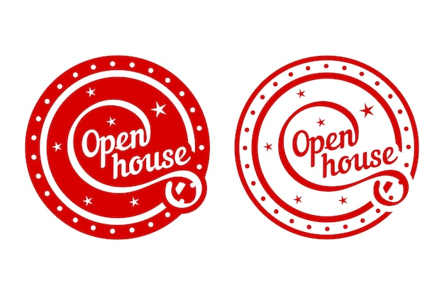 Koncepcja Etykiety Otwarty Dom Darmowych Wektorów