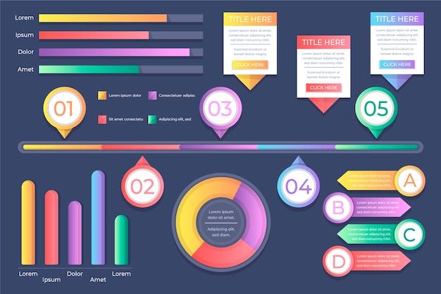 Koncepcja Ewolucji Gradientu Infographic Darmowych Wektorów