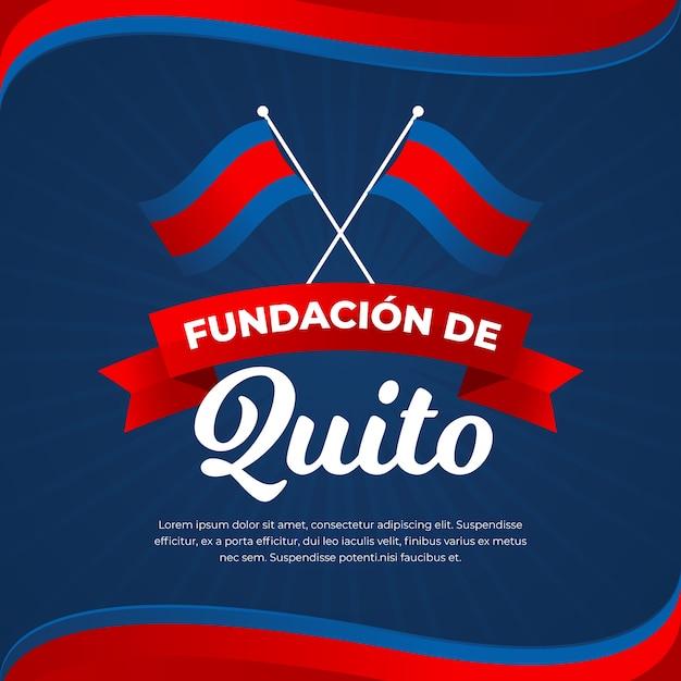 Koncepcja Fundacion De Quito Premium Wektorów
