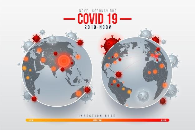 Koncepcja Globu Koronawirusa Darmowych Wektorów