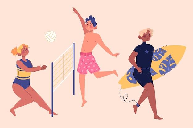 Koncepcja Ilustracja Sporty Letnie Darmowych Wektorów