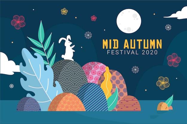 Koncepcja Ilustracji Festiwalu Połowy Jesieni Darmowych Wektorów