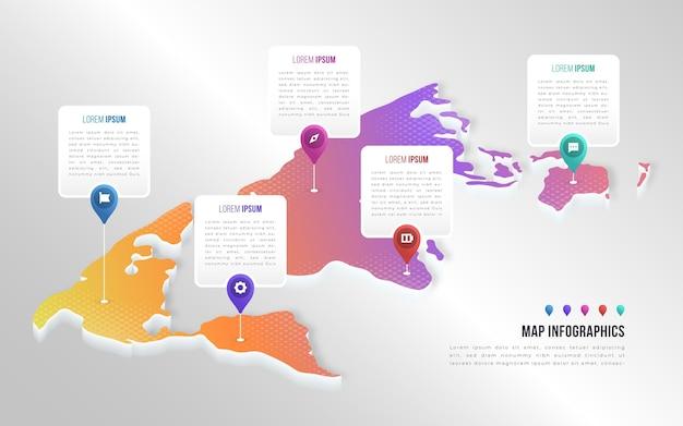 Koncepcja Infografiki Mapy Izometryczne Darmowych Wektorów