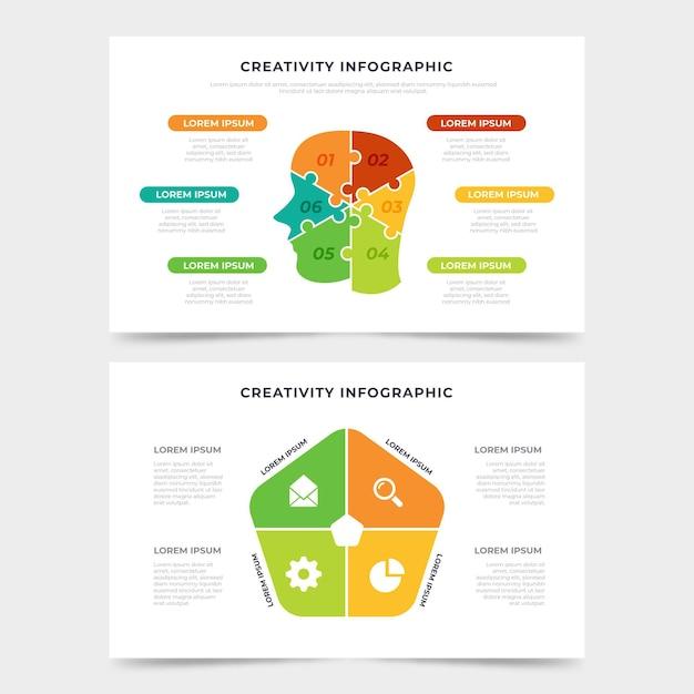 Koncepcja Infografiki Płaskie Kreatywność Darmowych Wektorów