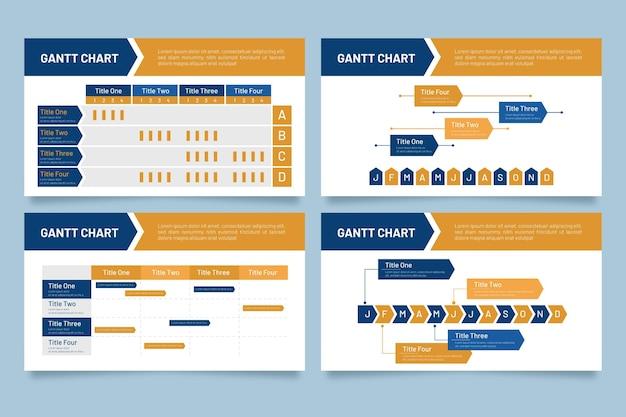 Koncepcja Infographic Wykres Gantta Darmowych Wektorów