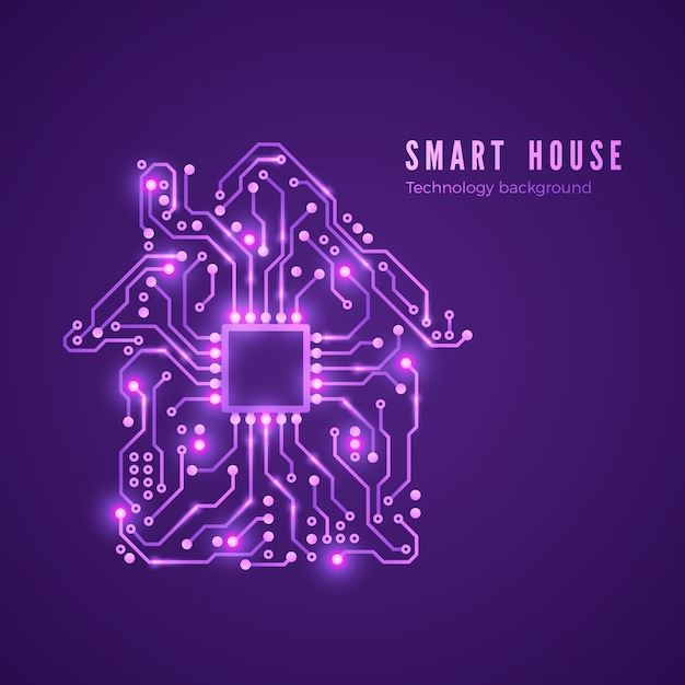 Koncepcja Inteligentnego Domu Obwód Domowy I Procesor Premium Wektorów