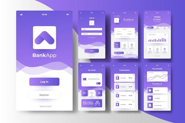 Koncepcja Interfejsu Aplikacji Bankowości Darmowych Wektorów