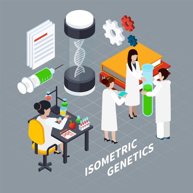 Koncepcja izometryczna nauki i genetyki Darmowych Wektorów