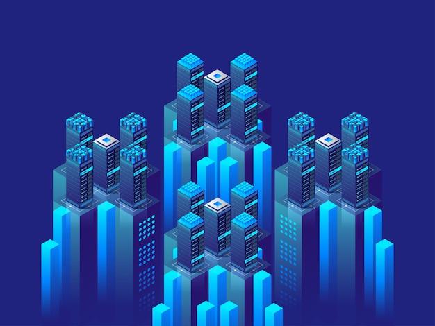 Koncepcja Izometryczny Wysokiej Technologii Premium Wektorów