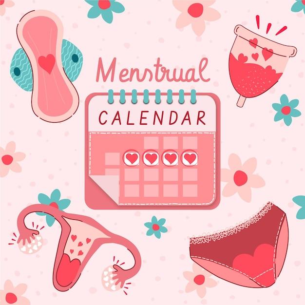Koncepcja Kalendarza Miesiączkowego Darmowych Wektorów
