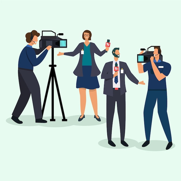 Koncepcja Kolekcji Dziennikarskiej Darmowych Wektorów