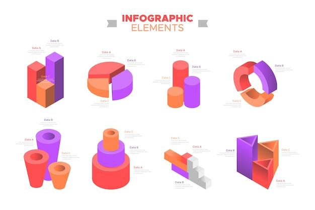 Koncepcja Kolekcji Elementu Infographic Darmowych Wektorów