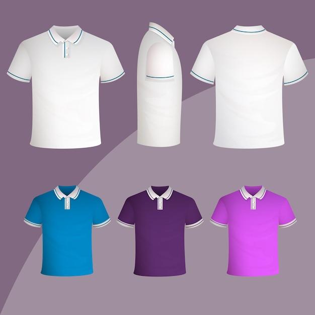 Koncepcja Kolekcji Koszulki Polo Premium Wektorów