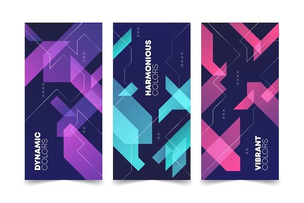 Koncepcja Kolekcji Streszczenie Geometrycznej Okładki Premium Wektorów