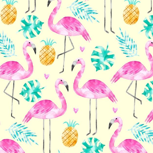 Koncepcja Kolekcji Wzór Flamingo Darmowych Wektorów