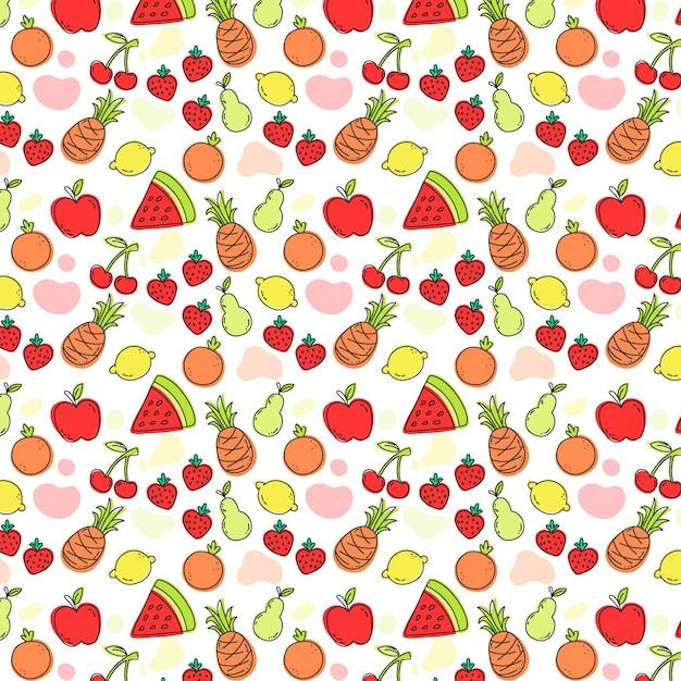Koncepcja Kolekcji Wzór Owoców Darmowych Wektorów