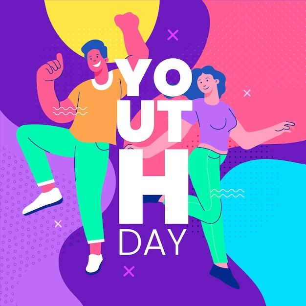 Koncepcja Kolorowy Dzień Młodzieży Darmowych Wektorów