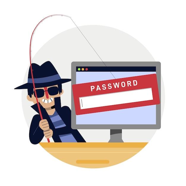 Koncepcja Konta Phishingowego Darmowych Wektorów