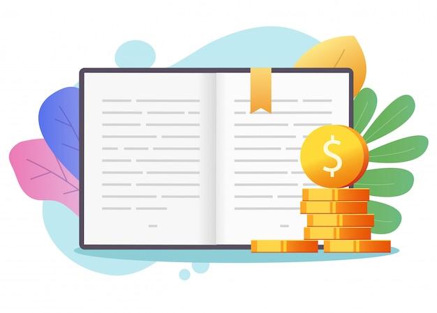 Koncepcja Kredytu Stypendium Edukacja Pieniądze Na Kolorowe Tło Premium Wektorów