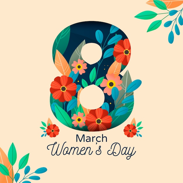 Koncepcja Kwiatowy Dzień Kobiet Darmowych Wektorów