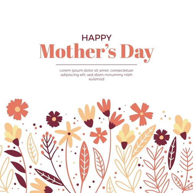 Koncepcja Kwiatowy Dzień Matki Darmowych Wektorów