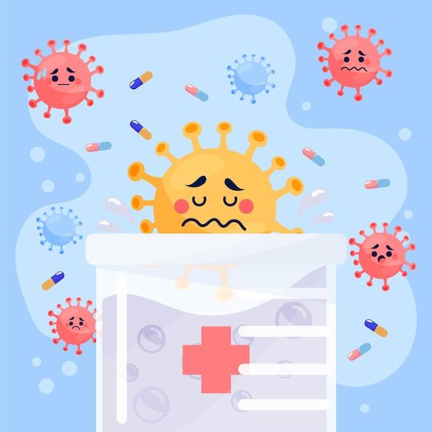Koncepcja Leczenia Wirusów Za Pomocą Substancji Darmowych Wektorów