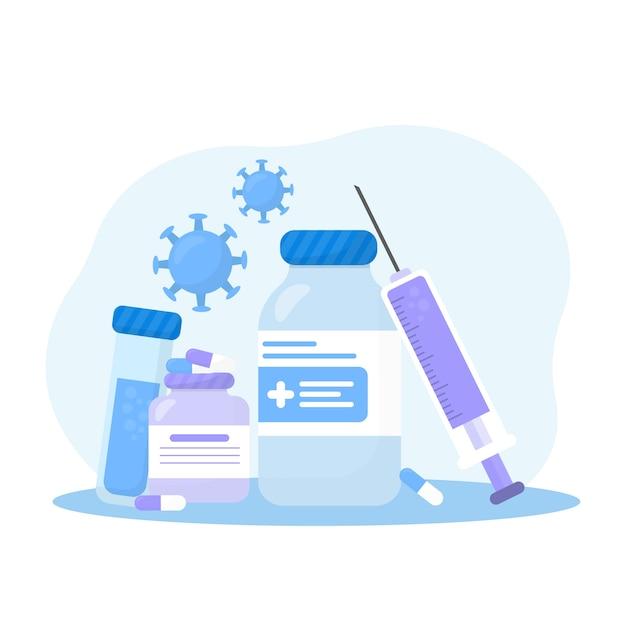 Koncepcja Leczenia Wirusów Premium Wektorów