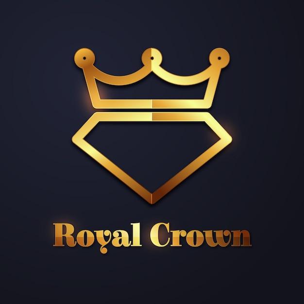 Koncepcja Logo Elegancki Diament Darmowych Wektorów
