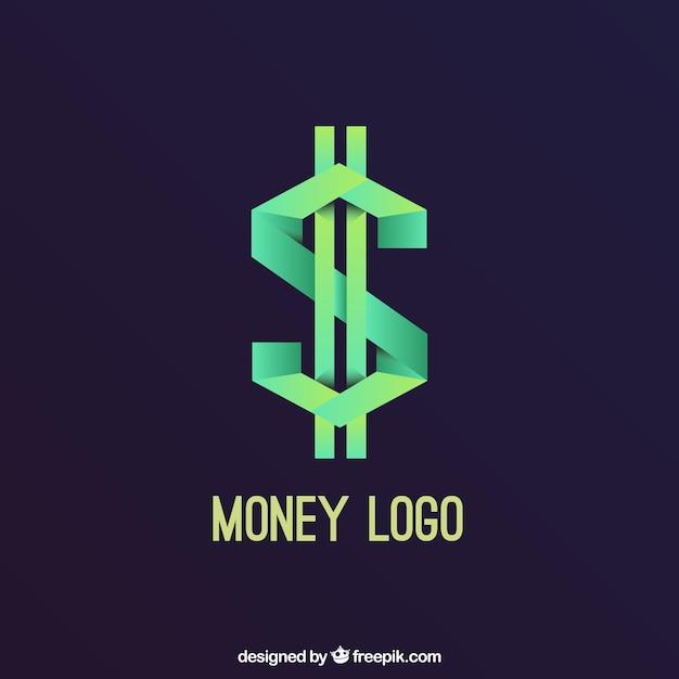 Koncepcja Logo Kreatywnych Pieniędzy Darmowych Wektorów